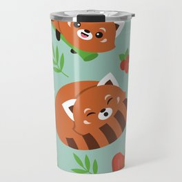 Happy Red Panda Travel Mug