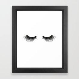 Closed Eyelashes Framed Art Print