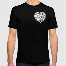 Heart Black MEDIUM Mens Fitted Tee