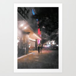 Misty Hub Art Print