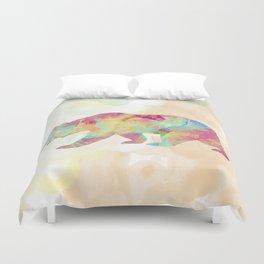 Abstract Bear Duvet Cover