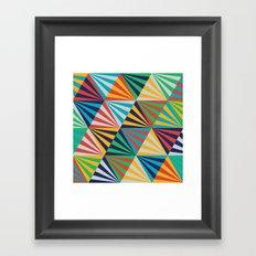 Color Triangles - Basic Framed Art Print
