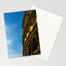 Sunset Hitting The Roman Colosseum Stationery Cards
