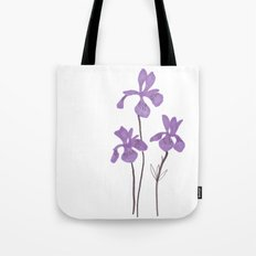 Iris Purple Flower Tote Bag