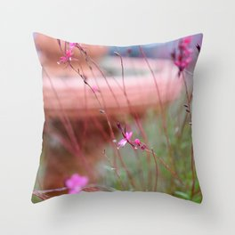 Mystery and Flowers Throw Pillow