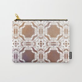 WHITE AND GOLD WATERCOLOR MOSAIC  Carry-All Pouch