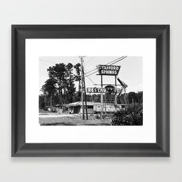 Stafford Springs Restaurant in Black and White Framed Art Print