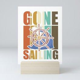 Gone sailing vintage sailors Mini Art Print
