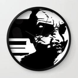 M.S.S.B.I.M: Comic Joker (Black and White) Wall Clock