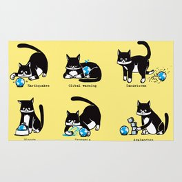 Cat disasters Rug