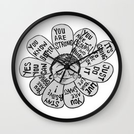 Positive Bloomer/Negative Bloomer Wall Clock