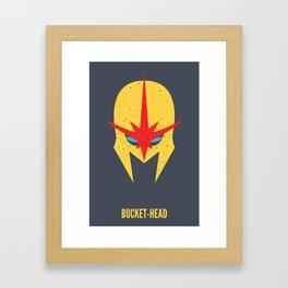 Nova - Bucket-Head Framed Art Print