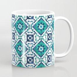 Mosaico azul oscuro Coffee Mug