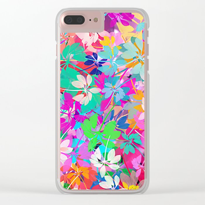 Floral abstract 47 Clear iPhone Case