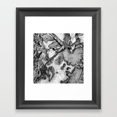 Ice and Mud Framed Art Print