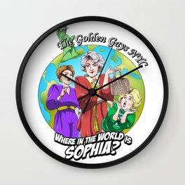 Where in the World is Sophia? Josh Dunbar cartoon Wall Clock