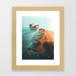 Jurassic coast UK Framed Art Print