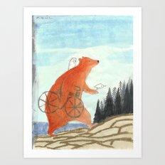 The Friends Explore an Island Art Print