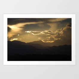 Shaded Mountains Art Print