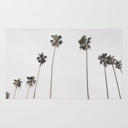 Row of palm trees Rug