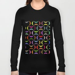 Abstract multicolor shapes pattern Long Sleeve T-shirt
