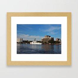 City Across The River Framed Art Print
