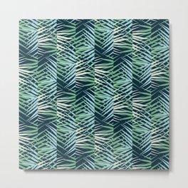 Areca Palm Leaves Stripe Metal Print