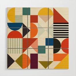 mid century retro shapes geometric Wood Wall Art