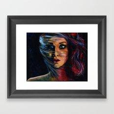 Gurl. Interuppted.  Framed Art Print