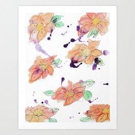 blazz studios: Watercolour Flowers Art Print