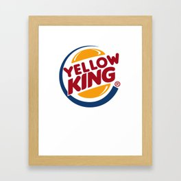 Yellow King Logo Framed Art Print