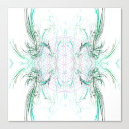 smoke on the flower of life Canvas Print