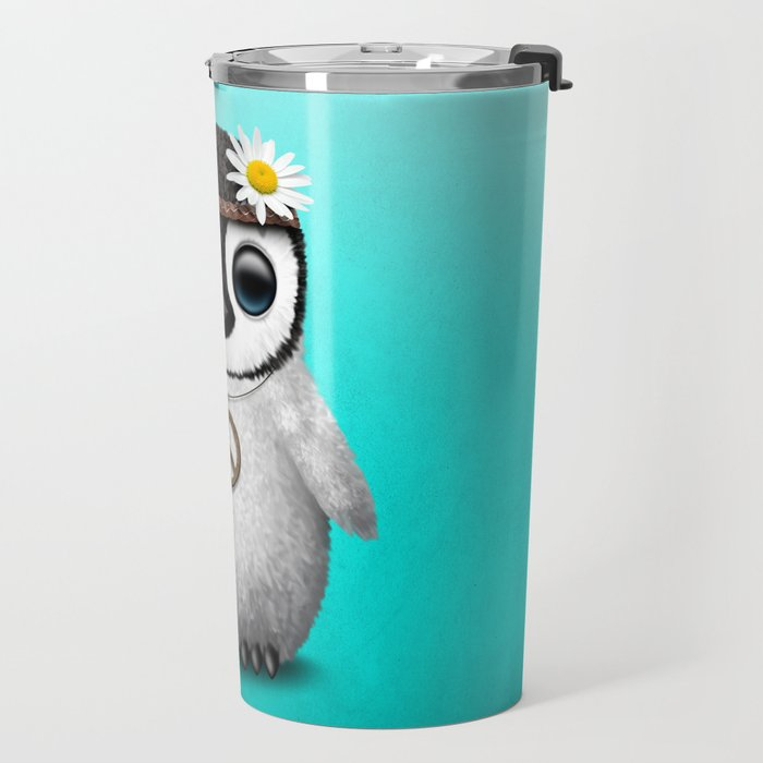 Cute Baby Penguin Hippie Travel Mug