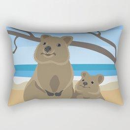 Quokka mom with baby Rectangular Pillow