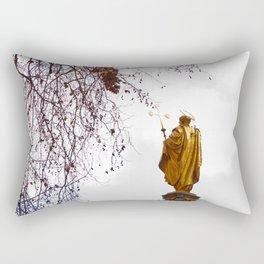Statue of a saint in gold Rectangular Pillow