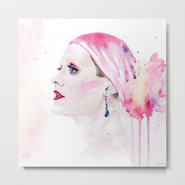 Rayon | Jared Leto in Dallas Buyers Club | Watercolor Portrait Metal Print