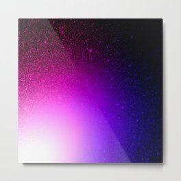 Fuchsia Purple Blue Ombre Metal Print
