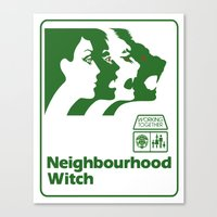 the neighbourhood Canvas Prints featuring Neighbourhood Witch by Crank Institute