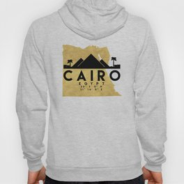 CAIRO EGYPT SILHOUETTE SKYLINE MAP ART Hoody