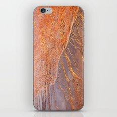 Travertine - orange iPhone & iPod Skin