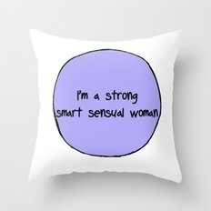 Sensual Woman Throw Pillow