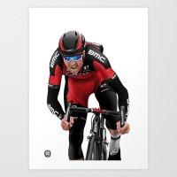 Greg Van Avermaet - Sprinting Art Print