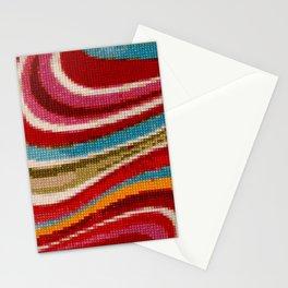 Cross Stitch Red Stationery Cards