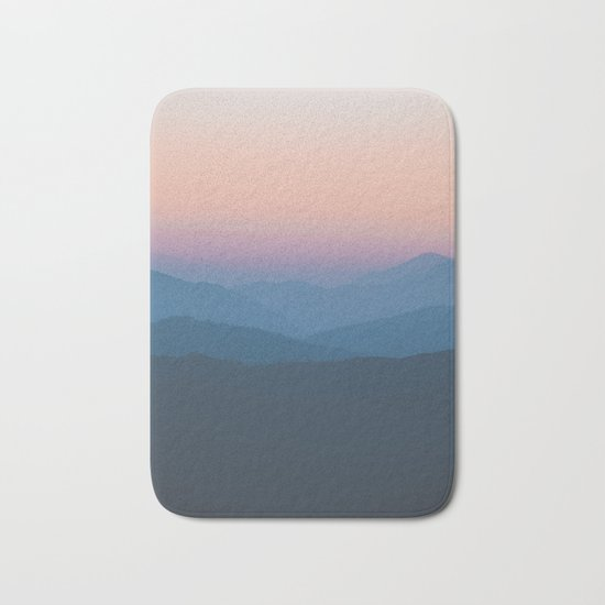 Sunset over Nepal Bath Mat