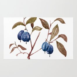 Watercolor Bog Bilberry Rug