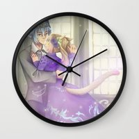 bond Wall Clocks featuring Eternal Bond by nuxidraws