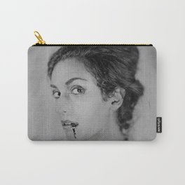 Classic Portrait of a Vampire - 8x10 Tintype Photo Carry-All Pouch