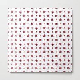 Cute Polka Dot Flower Print Metal Print