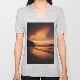 Sunset Beach Unisex V-Neck