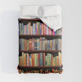 Book Lovers Gifts, Antique bookshelf Comforters